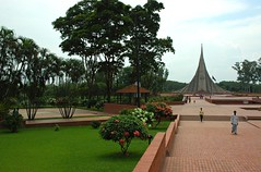The Memorial,    Jatiyo Smriti Soudho Independence memorial park, Savar, Dhania, Dhaka, Bangladesh (Wonderlane) Tags: trees people men brick green garden memorial path bricks landmark walkway dhaka lush distance dhania bangladesh brickwork floweringtrees savar wallway floweringbush wonderlane 1678 jatiyosmritisoudho  independencememorialpark jatiyosmritisoudhoindependencememorialpark jatiyosmritisoudhoindependencememorialpark