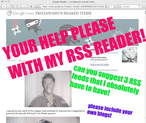 Can  i get your help on recommending 3 RSS feeds for my reader?