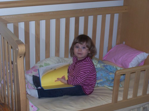 reading in the new bed