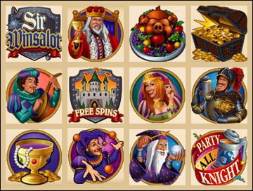 free Sir Winsalot slot game symbols
