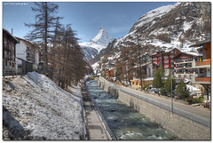 classic zermatt (Toni_V) Tags: snow mountains alps topv111 river landscape schweiz switzerland suisse zermatt matterhorn wallis 2009 hdr valais ih d300 photomatix vispa 4478 7exp tthdt capturenx toniv ©toniv photoshopelements6 1685mm 04042009