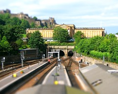 Edinburgh, Scotland / tilt shift (patrick.swinnea) Tags: castle train scotland miniature model edinburgh fake tiltshift tiltshiftmakercom