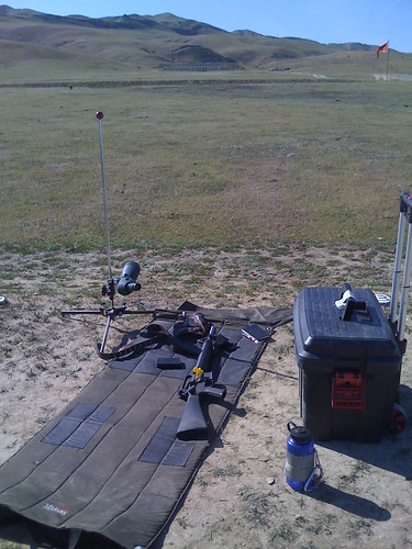 On the 600 yard line at the California State Service Rifle Championships in Coalinga, CA