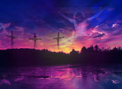 Jesus Christ, the son of God, has returned home to be with the Lord, Second Version (Beverly & Pack) Tags: pictures wood light sunset sky holiday art love church nature colors clouds sunrise wednesday easter cards religious happy death hope photo wooden spring worship colorful heaven christ cross bright god good faith father jerusalem religion jesus sunday scenic crosses belief son lord christian crucifix bible ash service christianity hebrew messiah rise friday risen heavens shining heavenly prophet crucifixion savior calvary passover execution resurrection nailed crucified sharingart