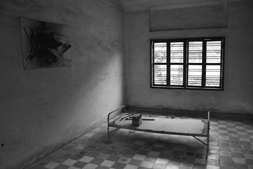 S21 B&W - A cell in Tuol Sleng