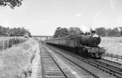 32353 leaving Arundel with LCGB Rail Tour 24 June 1962 (pondhopper1) Tags: blackandwhite white black steam railways uksteam