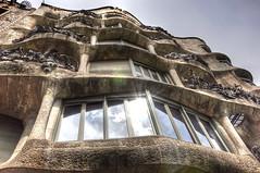 La PedRerA (Faddoush) Tags: world barcelona art heritage architecture casa spain unesco espana nouveau hdr lapedrera milà