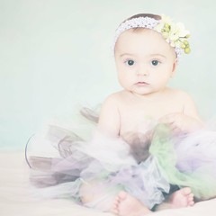 My Sweet Girl (Shana Rae {Florabella Collection}) Tags: blue light portrait baby green girl nikon purple natural blues honey monday tutu headband lilyblue d700