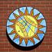 Porcelain & Stained Glass Sundial by John Carmichael