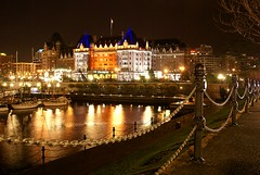 The Empress Hotel Victoria BC Canada (Yellow Crayone) Tags: night sony victoria empress a100 theempresshotel theinnerharbour
