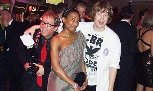 a photographer, Anita, and Matt from Nirvana the Band!