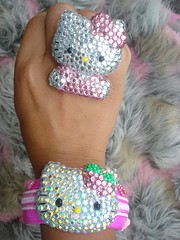 Bangle is Iced Out Too (Pinky Anela) Tags: hk japanese hellokitty sanrio kawaii swarovski deco pinkyanela