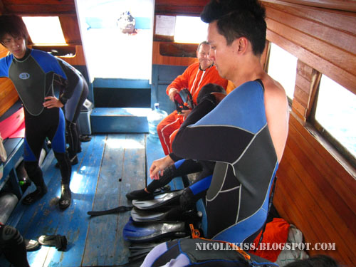 gerald wearing his wet suit