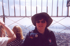 Jane (and Eeyore) at the top of the Empire State Building