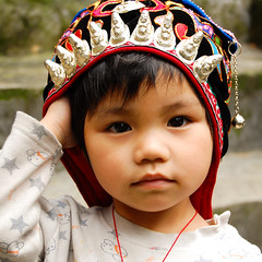 Yao boy (marin.tomic) Tags: china travel boy portrait cute asian kid nikon asia child guilin chinese explore tribe ethnic minority yao guangxi longsheng ethnicminority d40
