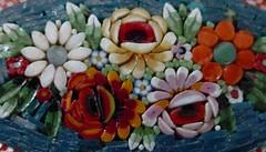 Italian mosaic pin, circa 1953