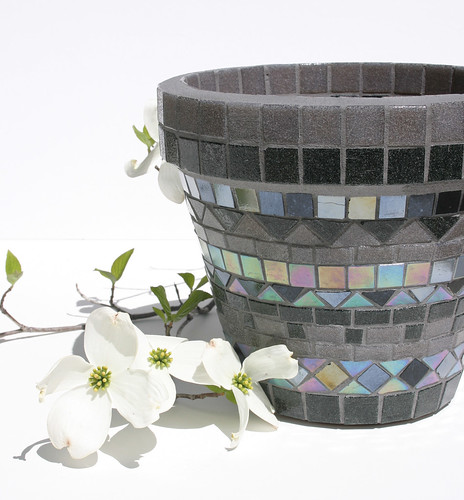 Gray and Blue Planter by halleydawn, on Flickr
