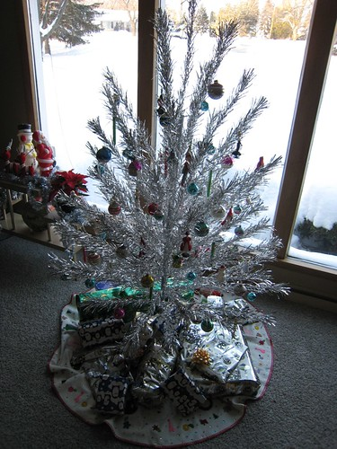 Vintage 1950's era Christmas Tree with Gifts