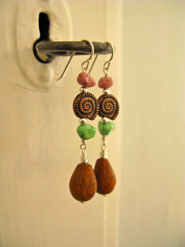 Pirate romance earrings