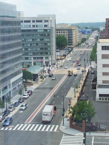 M Street SE looking eastward from about 1st Street SE