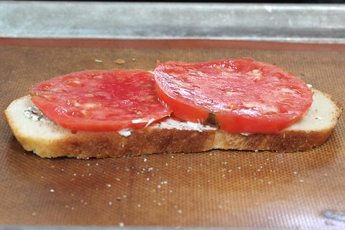 Layer #1: Fresh Heirloom Tomatoe Slices