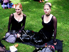 Wave-Gotik-Treffen @ Leipzig 31.05.09 (Cascotie) Tags: girls black sexy gothic leipzig german blonde latex latice ragazze wavegotiktreffen gotiche 310509