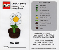 LEGO Store MMMB - May 2009 (Flower) (TooMuchDew) Tags: holiday flower lego may legostore legoimaginationcenter legoinstructions mmmb toomuchdew monthlyminimodelbuild licmoa minimodellbauevent