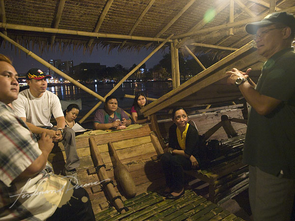 An informal evening of Q&A on board the Balangay at the Harbor Side