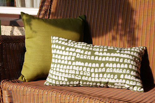 Pillows on the Bench