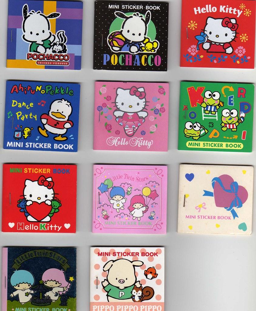 Sanrio mini sticker books