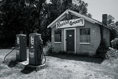 Rankin's Grocery (MilkaWay) Tags: blackandwhite abandoned southcarolina historic gasstation anderson restored grocerystore chevron gaspumps andersoncounty marchbanksavenue