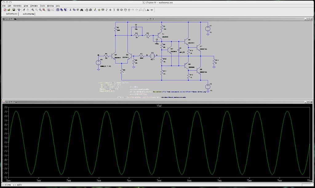 LTspice IV - audioamp.asc