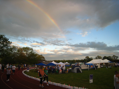 Rainbow at Relay for Life