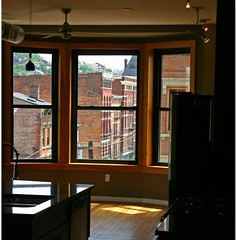 Vine St through a renovated window (courtesy of Randy Simes)
