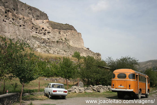 A cidade gruta de Vardzia na Georgia