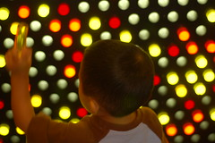 Owen at Lite brite wall