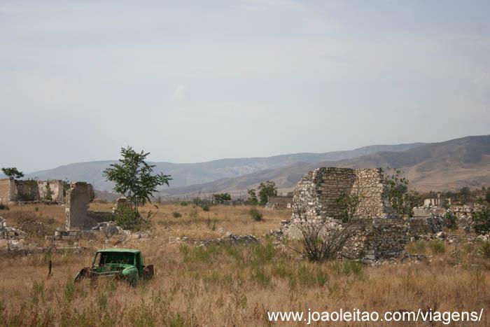 Agdam cidade fantasma no Alto Carabaque