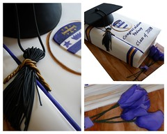 Book collage (BonnBoni) Tags: cakes cake graduationcap graduationcake bookcake fondantbook
