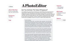 A Photo Editor - Can You Estimate The Value Of Exposure