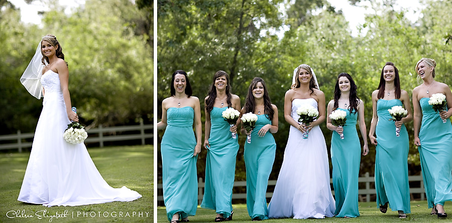 Calamigos Ranch Malibu grass field bridesmaids portrait