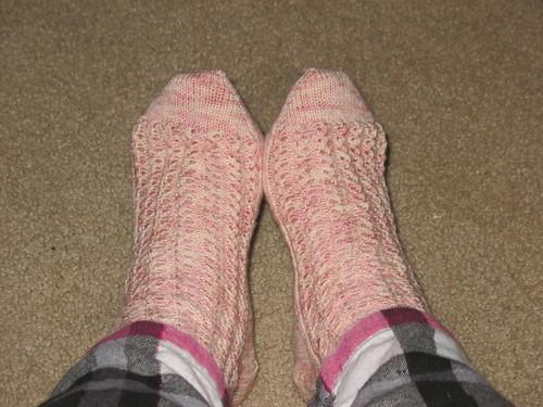 FO: Lacy Rib Socks