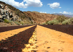 The road to success is always under construction. (ShanLuPhoto) Tags: california road travel summer usa mountain america nationalpark nevada roadtrip line deathvalley success      loolooimage