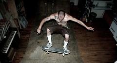 more apartment skating (jamesgrayking) Tags: new york loft brooklyn james jump king apartment skating gray pipe half skateboard williamsburg trick bushwick p1f1 nikonflickraward