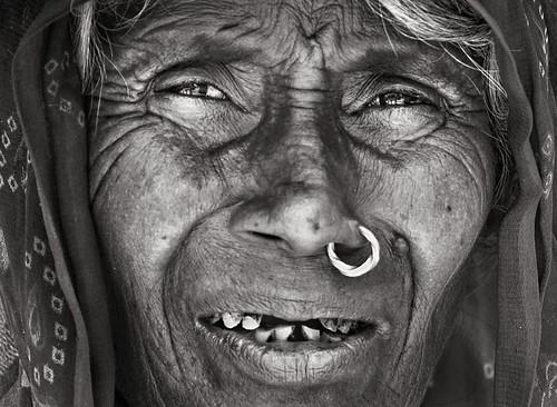 Mirada de Mujer India (B&N)