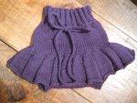 Handknit Skirty - Purple - size medium