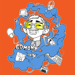 CDMON contest (TURKESA (old profile)) Tags: cloud nerd illustration photoshop mouse pc tshirt screen fresh freak usb plug headphones diseo informatica diskette turkesa rabodiga cdmon turkesart