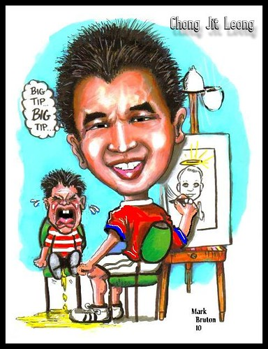 My caricature by caricaturist Mark Bruton