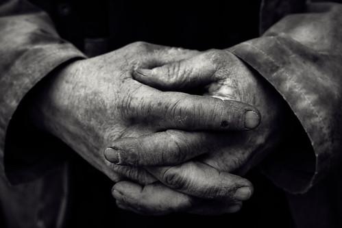 Stonemason's hand