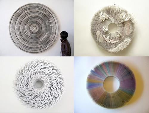 esculturas en papel de Mia Liu