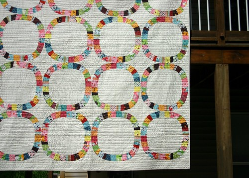 Single Girl Quilt - hanging a